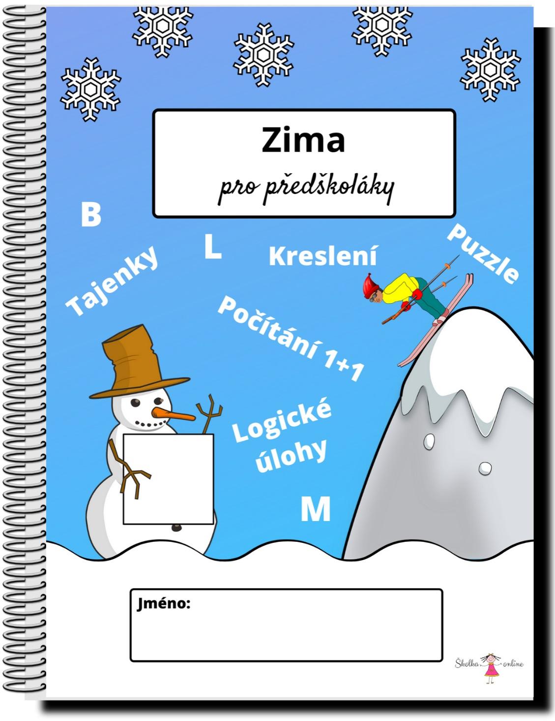 Pracovní listy pro předškoláky - zima